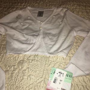Bonnie Jean Girls White long sleeve sweater